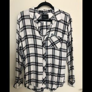 Rails button down flannel